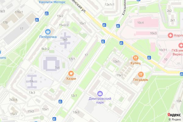 Ремонт телевизоров Улица Клязьминская на яндекс карте