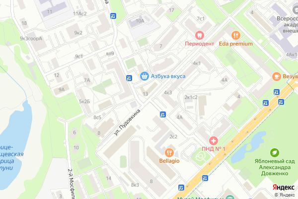 Ремонт телевизоров Улица Пырьева на яндекс карте