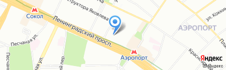 МАДИ-Клуб на карте Москвы