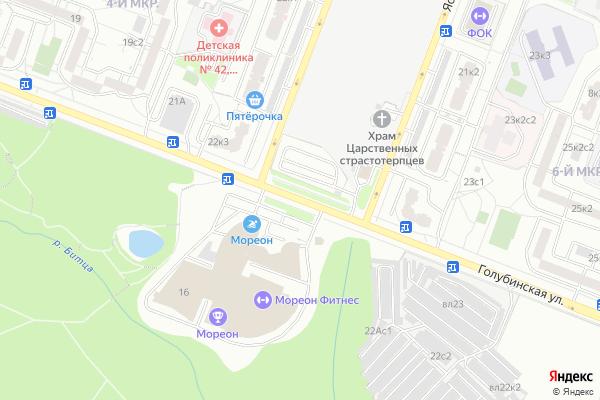 Ремонт телевизоров Улица Голубинская на яндекс карте