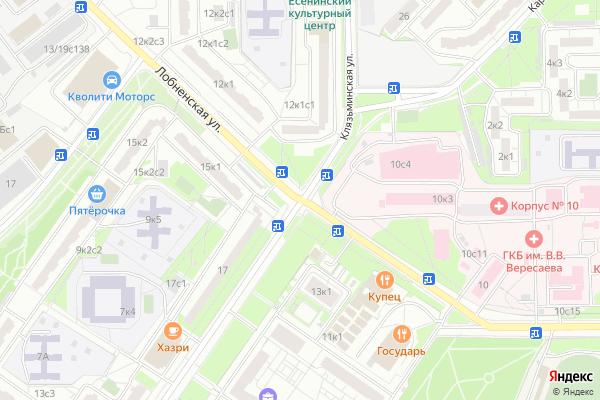 Ремонт телевизоров Улица Лобненская на яндекс карте