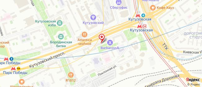 Карта расположения пункта доставки Москва Кутузовский в городе Москва
