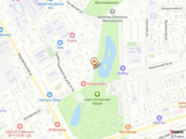 Остановка Ангарская ул., 49 в Москве