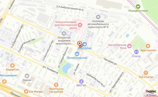 Карта расположения пункта доставки Халва в городе Москва