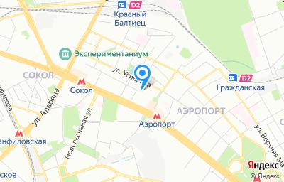 Местоположение на карте пункта техосмотра по адресу г Москва, пр-кт Ленинградский, д 64 стр 3