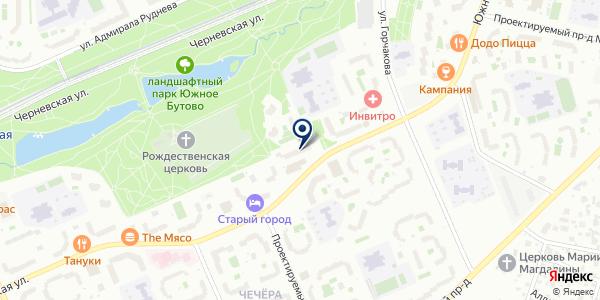 Бутовское на карте Москве