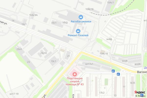 Ремонт телевизоров Улица Вагоноремонтная на яндекс карте