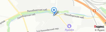 Алюминиевый стиль на карте Москвы