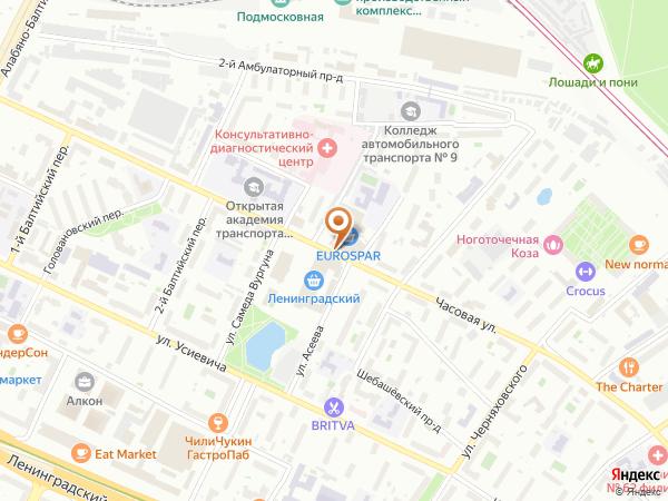 Остановка Ленинградский рынок - К/т Баку в Москве
