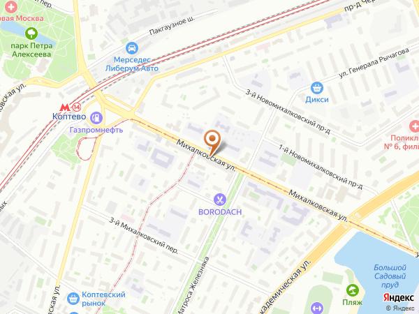 Остановка Соболевский пр. в Москве