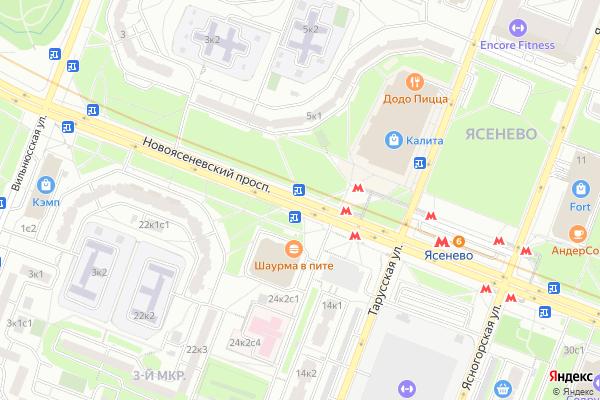 Ремонт телевизоров Новоясеневский проспект на яндекс карте