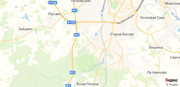 Судаково на карте