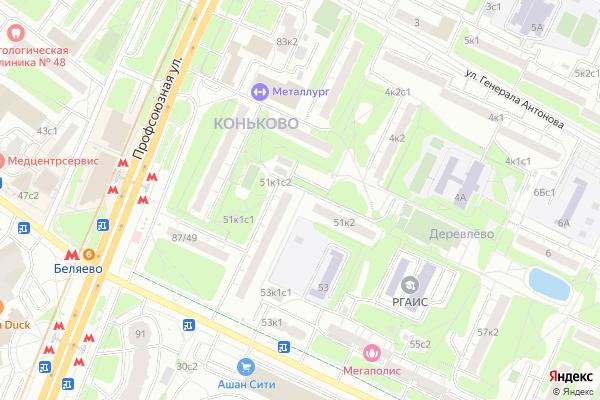 Ремонт телевизоров Район Коньково на яндекс карте