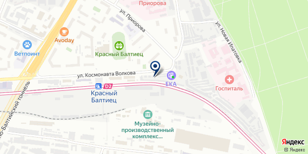 Гентек на карте Москве