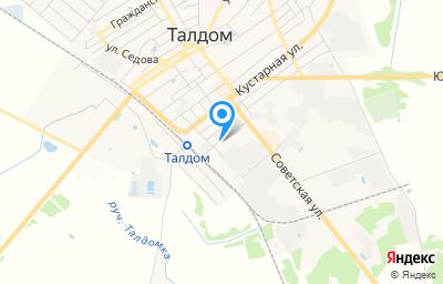 Местоположение на карте пункта техосмотра по адресу Московская обл, г Талдом, ул Крайняя, д 6