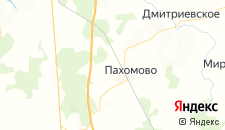 Отели города Пахомово на карте