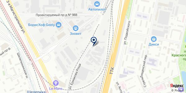 ТФ ВЕСТ ЮНИОН на карте Москве