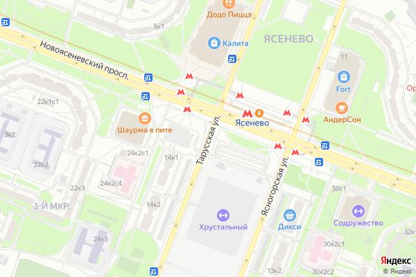 Ремонт телевизоров Улица Тарусская на яндекс карте