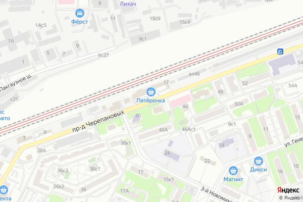 Ремонт телевизоров Черепановых проезд на яндекс карте