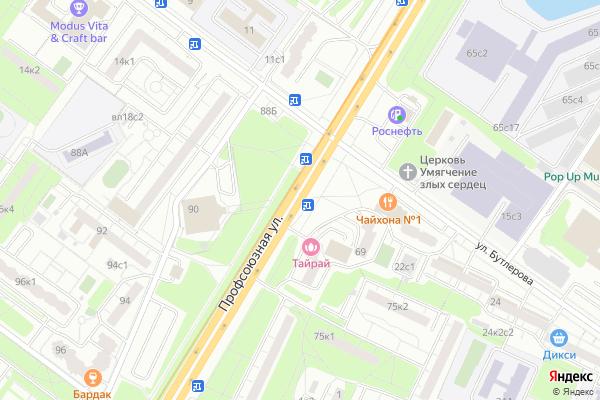 Ремонт телевизоров Улица Профсоюзная на яндекс карте