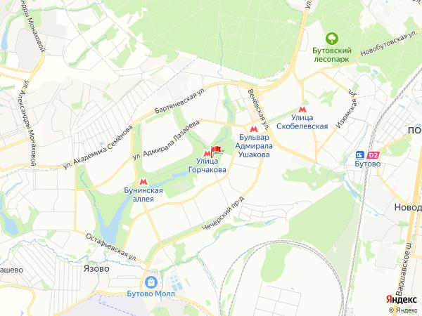 Карта район Южное Бутово