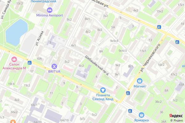 Ремонт телевизоров Шебашевский проезд на яндекс карте