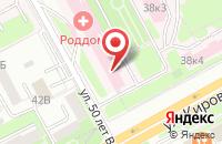 Схема проезда до компании Женская консультация в Подольске