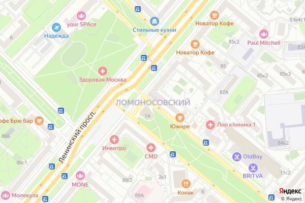 Ремонт телевизоров Район Ломоносовский на яндекс карте