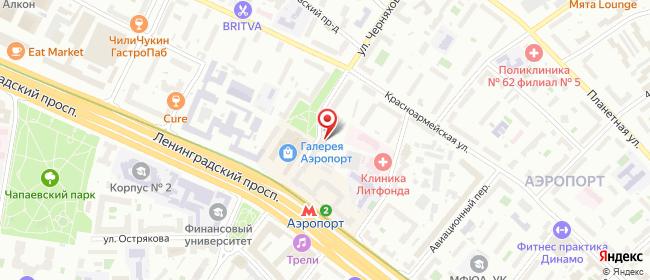 Карта расположения пункта доставки Москва Черняховского в городе Москва