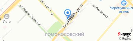 Кураж на карте Москвы