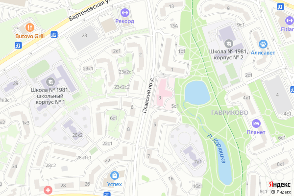 Ремонт телевизоров Плавский проезд на яндекс карте