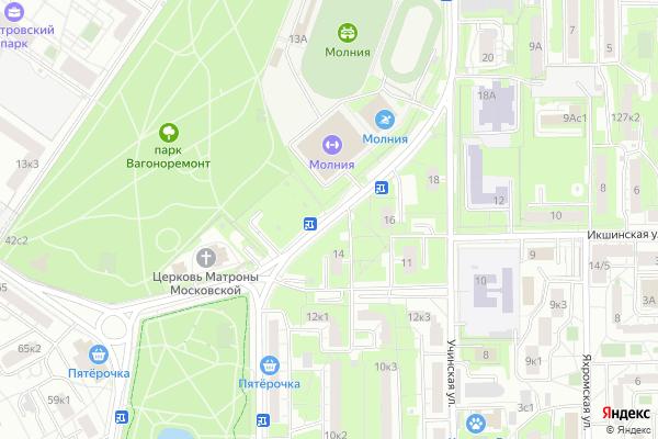 Ремонт телевизоров Улица Софьи Ковалевской на яндекс карте