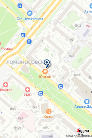 ТФ АНТИКОДОН на карте Москвы