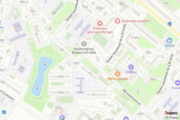 Ремонт телевизоров Улица Дегунинская на яндекс карте
