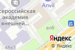 Схема проезда до компании Евро-Двери в Москве