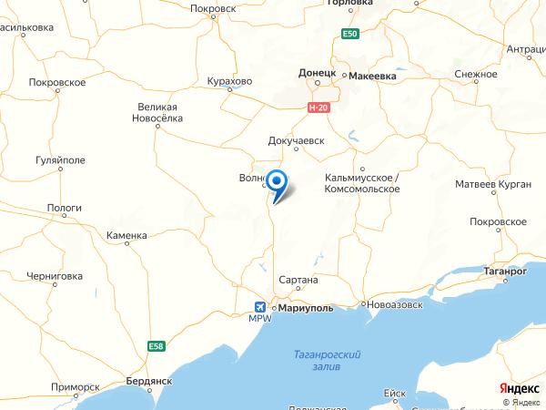 поселок городского типа Донское на карте