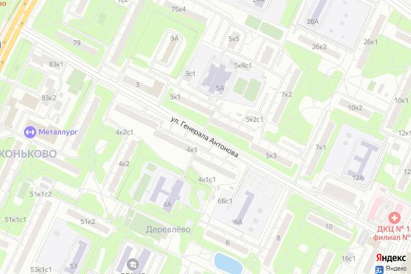 Ремонт телевизоров Улица Генерала Антонова на яндекс карте