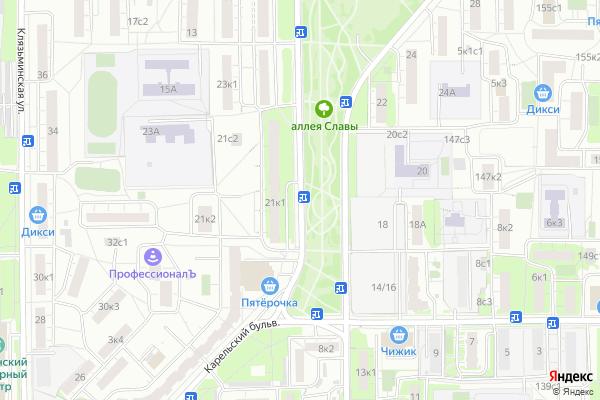 Ремонт телевизоров Карельский бульвар на яндекс карте
