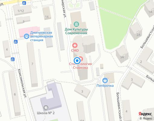 Управляющая компания «СтройКлиматСервис» на карте Дмитрова