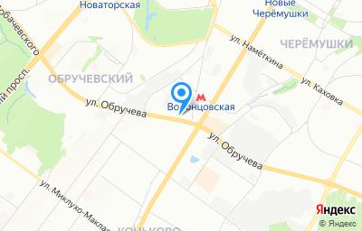 Местоположение на карте пункта техосмотра по адресу г Москва, ул Обручева, д 27 к 1