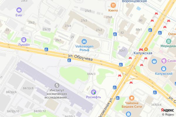 Ремонт телевизоров Улица Обручева на яндекс карте