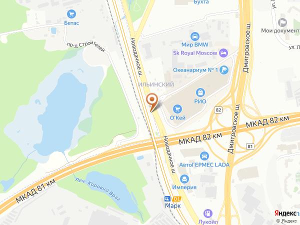 Остановка «ТРЦ РИО», Новодачное шоссе (16548) (Москва)