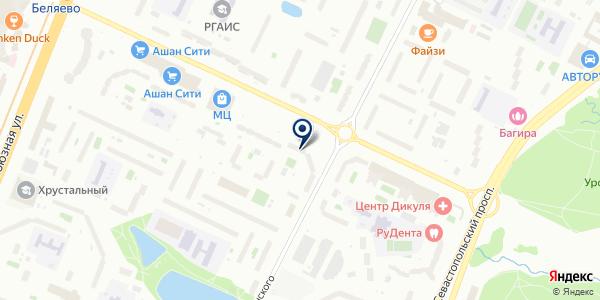 РАЙОН КОНЬКОВО РЭП № 48 ЖКХ на карте Москве