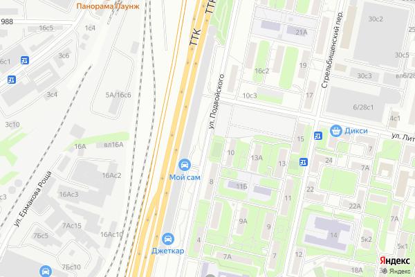 Ремонт телевизоров Улица Подвойского на яндекс карте