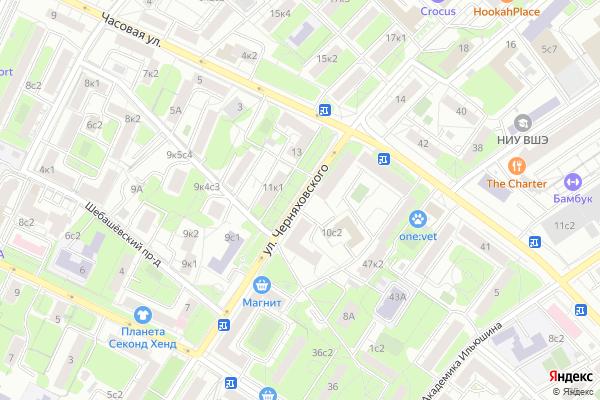 Ремонт телевизоров Улица Черняховского на яндекс карте