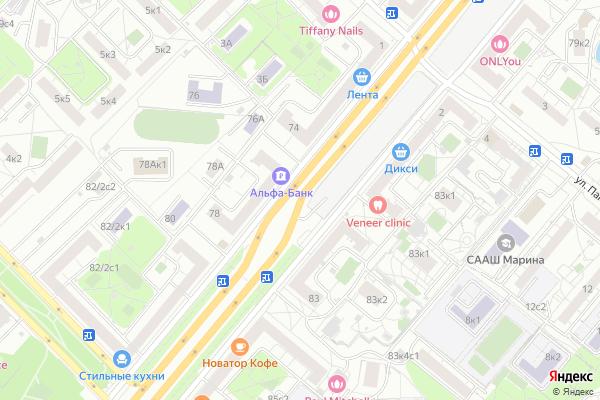 Ремонт телевизоров Ленинский проспект на яндекс карте