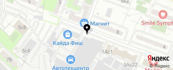 ДАНИАН на карте Москвы