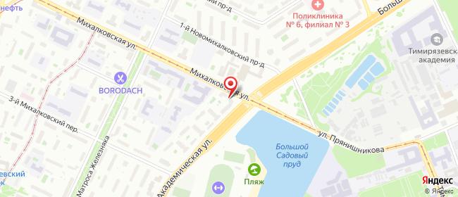 Карта расположения пункта доставки Москва Михалковская в городе Москва
