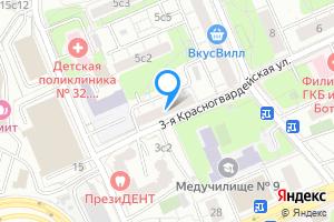 Снять двухкомнатную квартиру в Москве 3-я Красногвардейская улица, 8с1