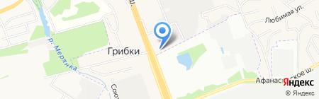 АЗС ТНК на карте Грибков